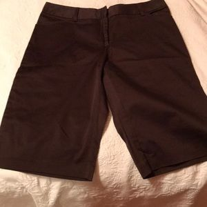 Chocolate brown Bermuda shorts